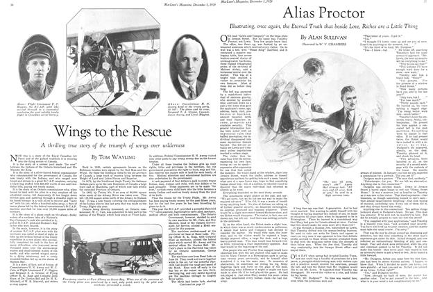 Article Preview: Wings to the Rescue, December 1929 | Maclean's