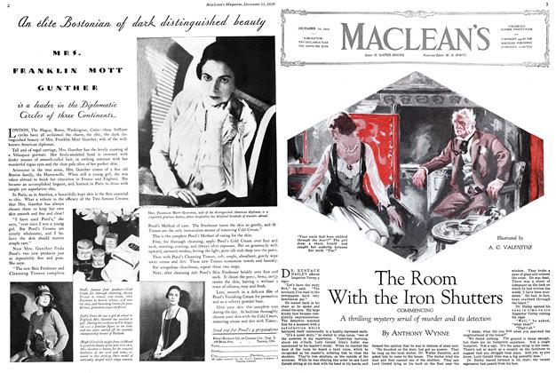 Article Preview: The Room With the Iron Shutters, December 1929 | Maclean's