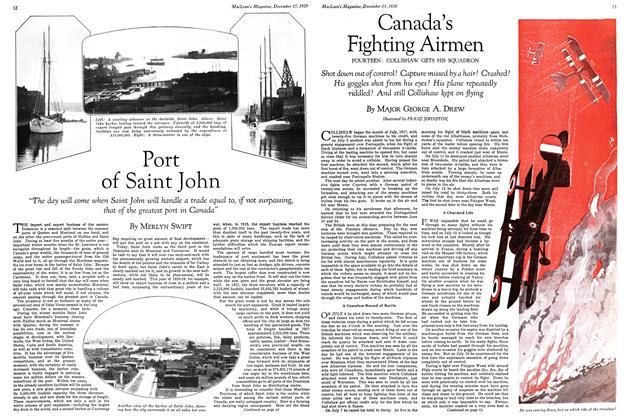 Article Preview: Canada's Fighting Airmen, December 1929 | Maclean's