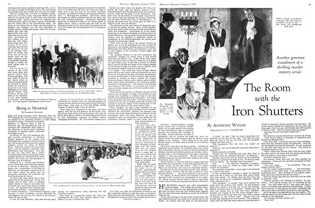 Article Preview: The Room with the Iron Shutters, January 1930 | Maclean's