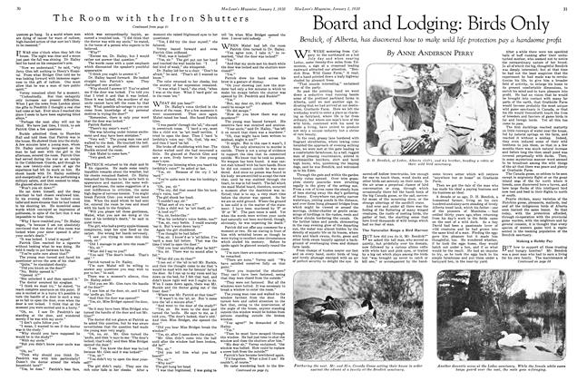 Article Preview: Board and Lodging: Birds Only, January 1930 | Maclean's