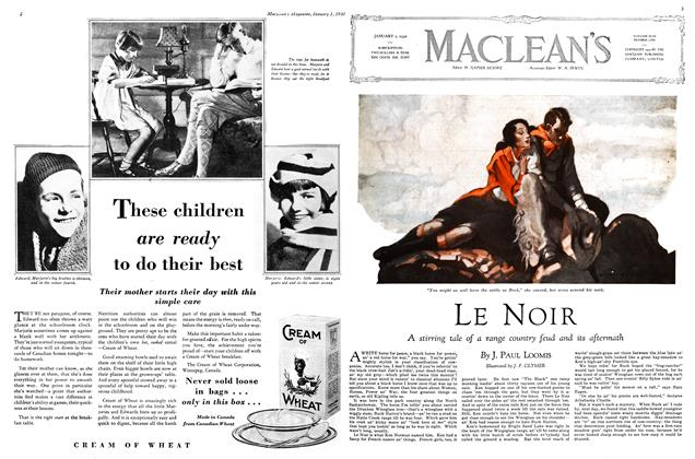 Article Preview: LE NOIR, January 1930 | Maclean's