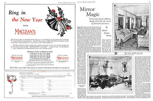 Article Preview: Mirror Magic, January 1930 | Maclean's