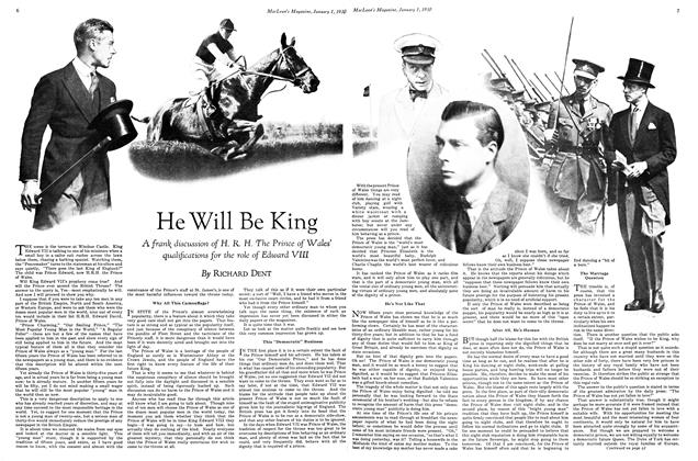 Article Preview: He Will Be King, January 1930 | Maclean's