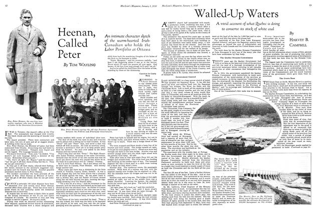 Article Preview: Walled-Up Waters, January 1930 | Maclean's