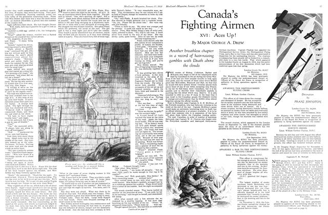 Article Preview: Canada's Fighting Airmen, January 1930 | Maclean's