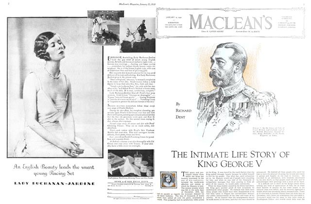 Article Preview: THE INTIMATE LIFE STORY OF KING GEORGE V, January 1930 | Maclean's