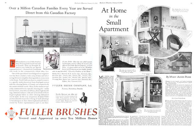 Article Preview: At Home in the Small Apartment, January 1930 | Maclean's