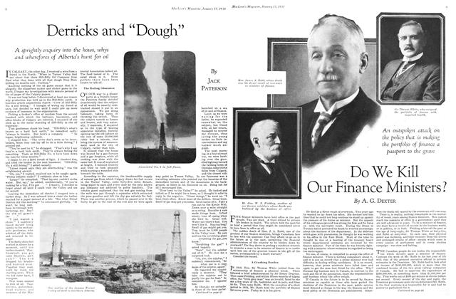 "Article Preview: Derricks and ""Dough"", January 1930 