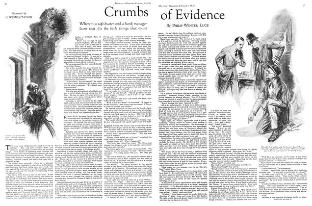Article Preview: Crumbs of Evidence, February 1930 | Maclean's