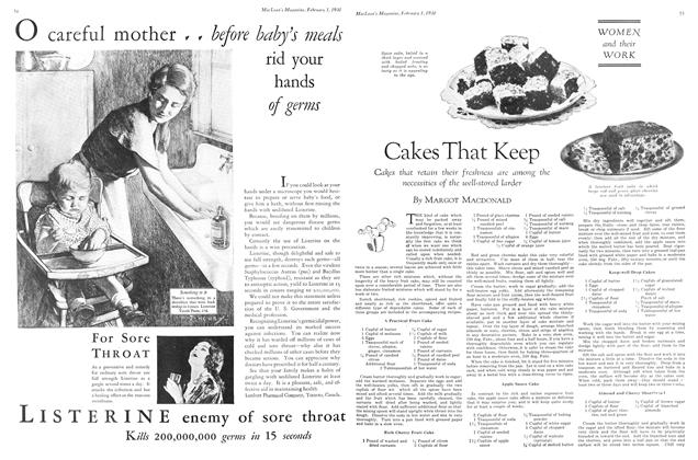 Article Preview: Cakes That Keep, February 1930 | Maclean's