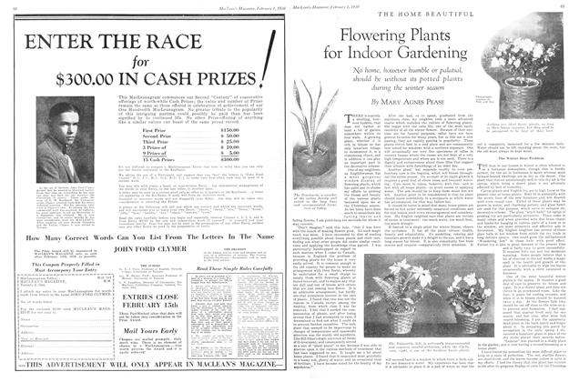 Article Preview: Flowering Plants for Indoor Gardening, February 1930 | Maclean's