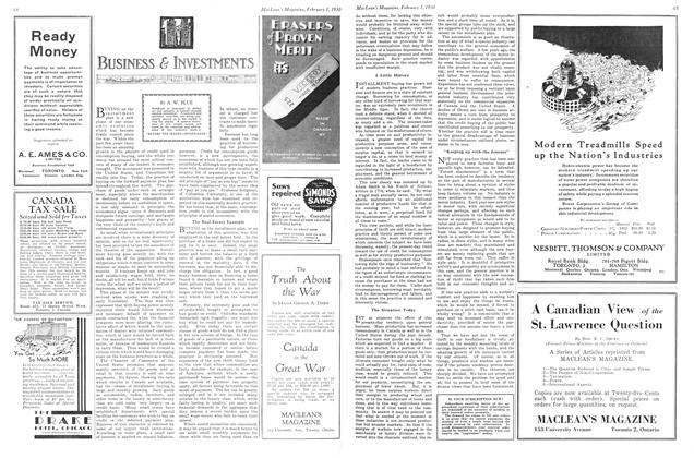Article Preview: BUSINESS & INVESTEMENTS, February 1930 | Maclean's