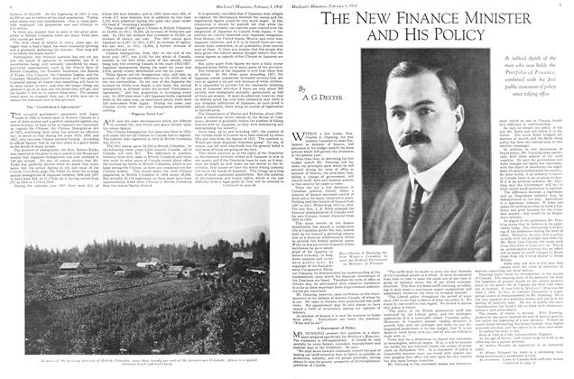 Article Preview: THE NEW FINANCE MINISTER AND HIS POLICY, February 1930 | Maclean's