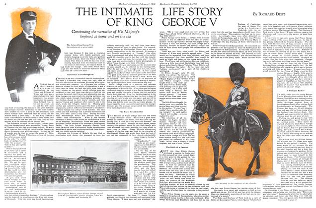 Article Preview: THE INTIMATE OF KING LIFE STORY GEORGE V, February 1930 | Maclean's