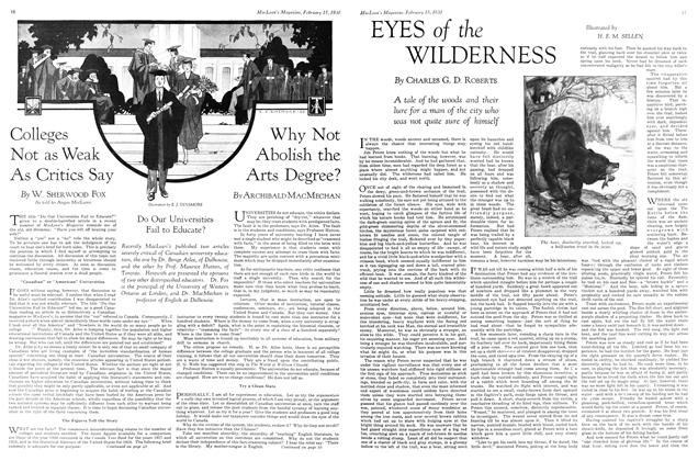 Article Preview: EYES of the WILDERNESS, February 1930 | Maclean's