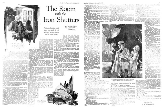 Article Preview: The Room with the Iron Shutters, February 1930 | Maclean's