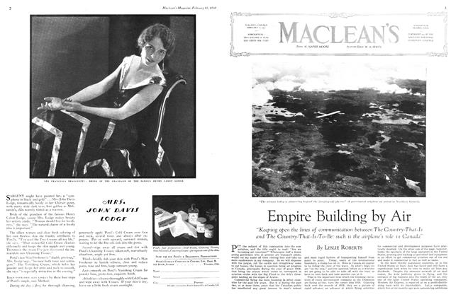 Article Preview: Empire Building by Air, February 1930 | Maclean's