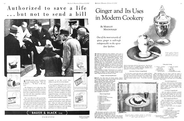 Article Preview: Ginger and Its Uses in Modem Cookery, February 1930 | Maclean's