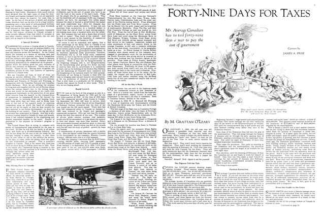 Article Preview: FORTY-NINE DAYS FOR TAXES, February 1930 | Maclean's