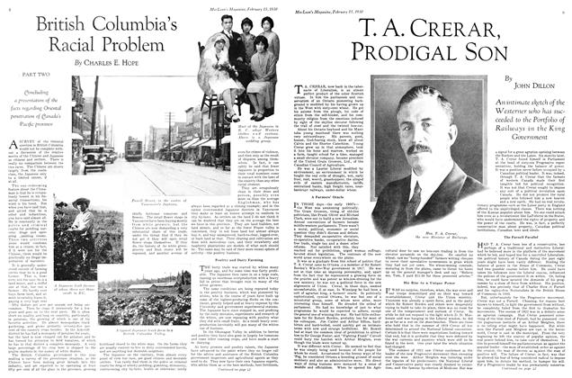 Article Preview: British Columbia's Racial Problem, February 1930 | Maclean's
