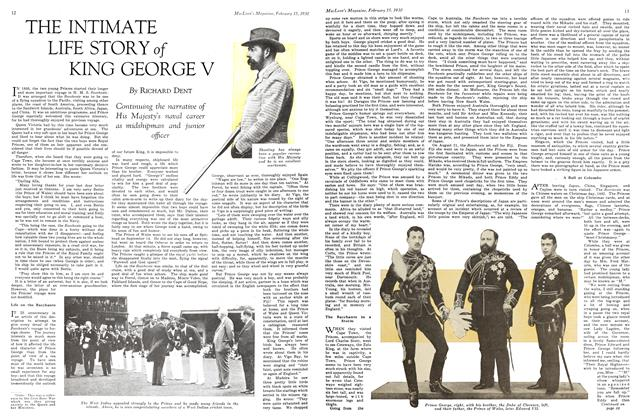 Article Preview: THE INTIMATE LIFE STORY of KING GEORGE V, February 1930 | Maclean's