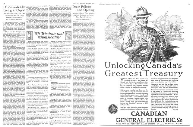 Article Preview: Death Follows Tomb Opening, March 1930 | Maclean's