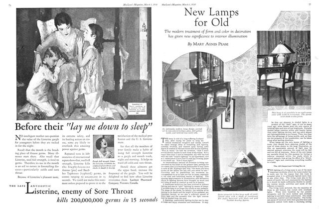 Article Preview: New Lamps for Old, March 1930 | Maclean's