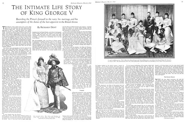 Article Preview: THE INTIMATE LIFE STORY OF KING GEORGE V, March 1930 | Maclean's