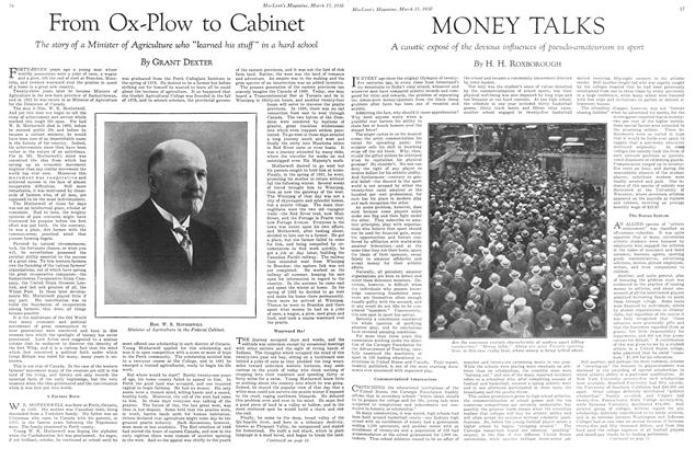 Article Preview: From Ox-Plow to Cabinet, March 1930 | Maclean's