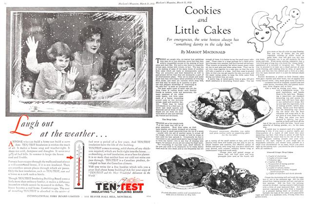Article Preview: Cookies and Little Cakes, March 1930 | Maclean's