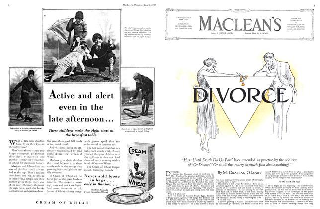 Article Preview: DIVORCE, April 1930 | Maclean's