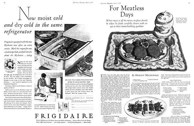 Article Preview: For Meatless Days, April 1930 | Maclean's