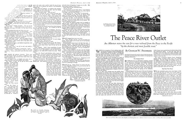 Article Preview: The Peace River Outlet, April 1930 | Maclean's