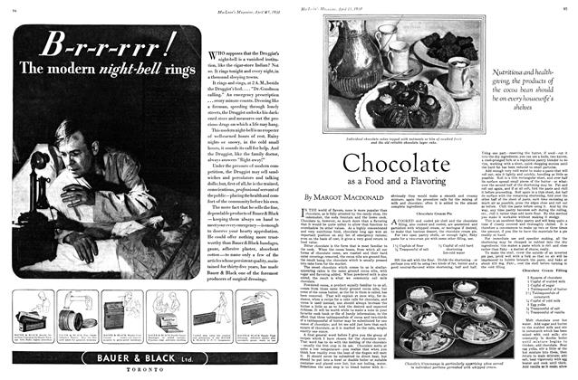 Article Preview: Chocolate as a Food and a Flavoring, April 1930 | Maclean's