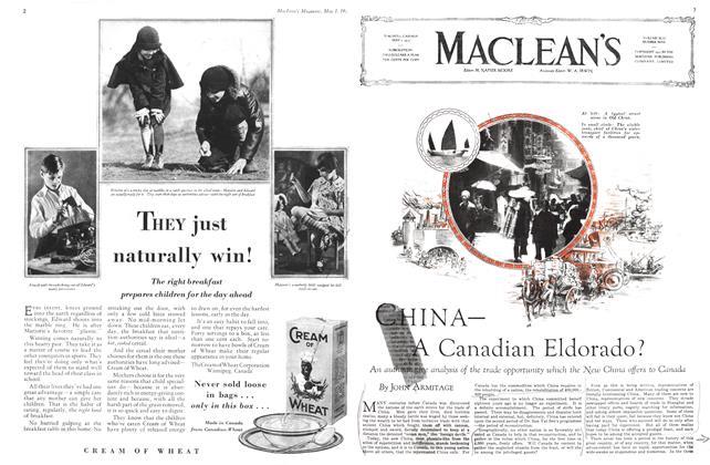 Article Preview: CHINA— A Canadian Eldorado?, May 1930 | Maclean's