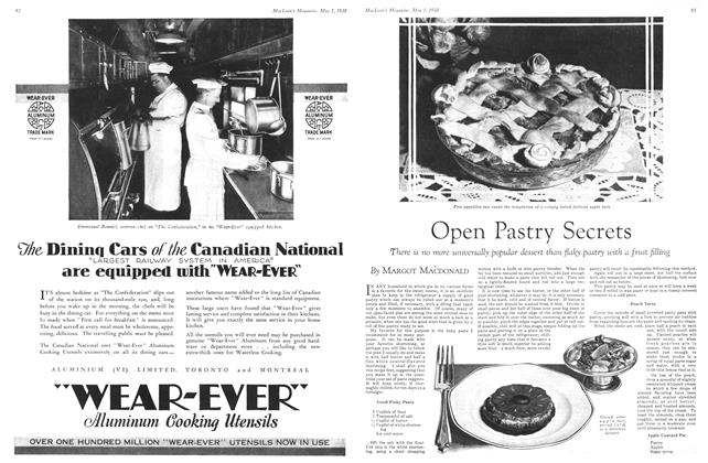 Article Preview: Open Pastry Secrets, May 1930 | Maclean's