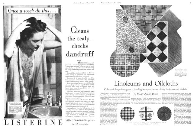 Article Preview: Linoleums and Oilcloths, May 1930 | Maclean's