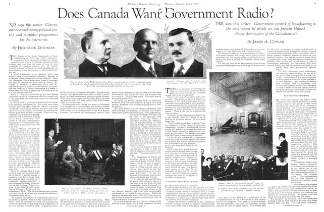 Article Preview: Does Canada Want Government Radio?, May 1930 | Maclean's
