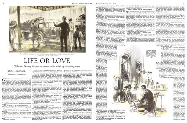 Article Preview: LIFE OR LOVE, June 1st 1930 1930 | Maclean's