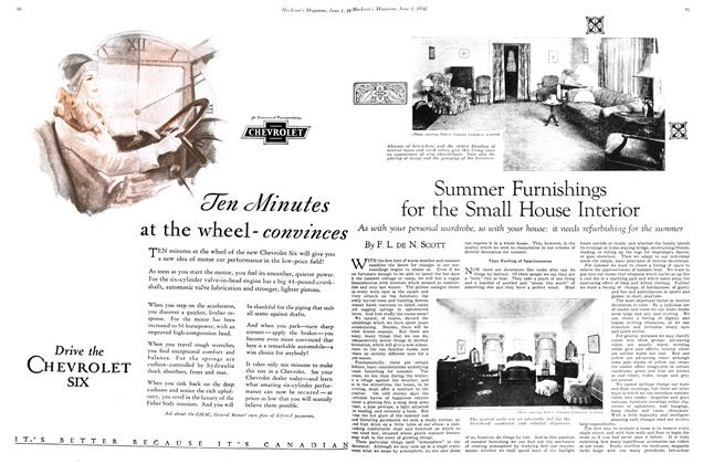 Article Preview: Summer Furnishings for the Small House Interior, June 1st 1930 1930 | Maclean's