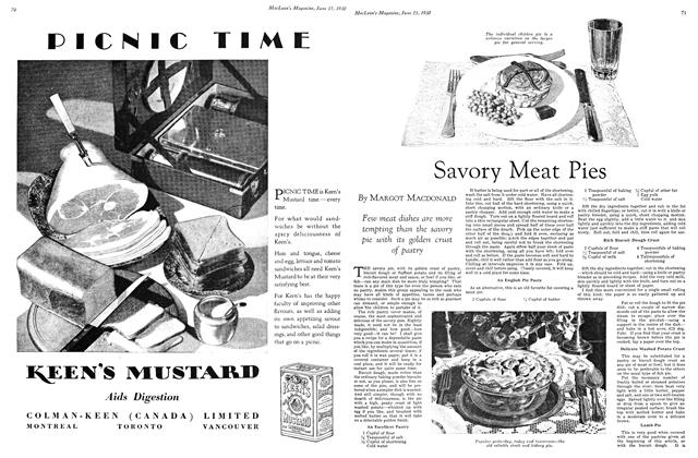 Article Preview: Savory Meat Pies, June 1930 | Maclean's