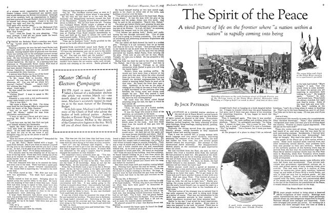 Article Preview: The Spirit of the Peace, June 1930 | Maclean's