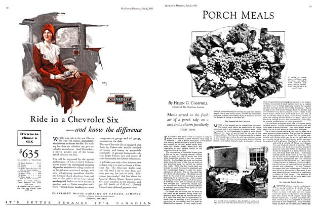 Article Preview: PORCH MEALS, July 1930 | Maclean's