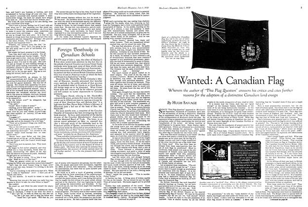 Article Preview: Wanted: A Canadian Flag, July 1930 | Maclean's