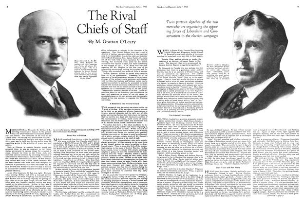 Article Preview: The Rival Chiefs of Staff, July 1930 | Maclean's