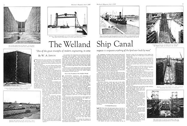 Article Preview: The Welland Ship Canal, July 1930 | Maclean's