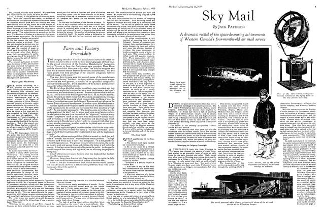 Article Preview: Sky Mail, July 1930 | Maclean's