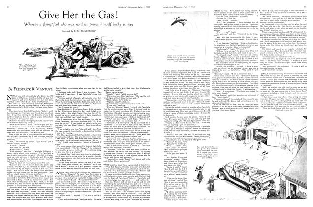 Article Preview: Give Her the Gas!, July 1930 | Maclean's