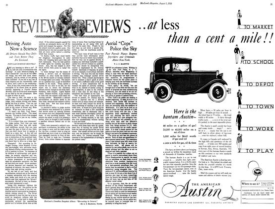 Article Preview: Driving Auto . Now a Science, August 1930 | Maclean's